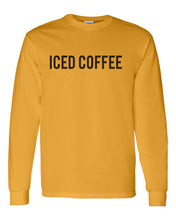 Load image into Gallery viewer, Iced Coffee Unisex Long Sleeve T Shirt - Wake Slay Repeat