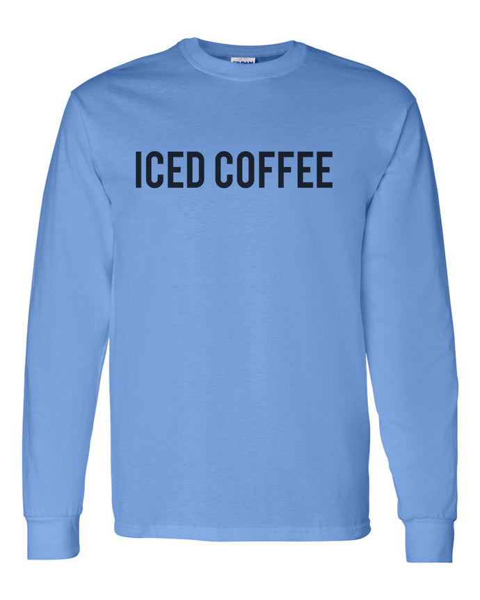 Iced Coffee Unisex Long Sleeve T Shirt - Wake Slay Repeat