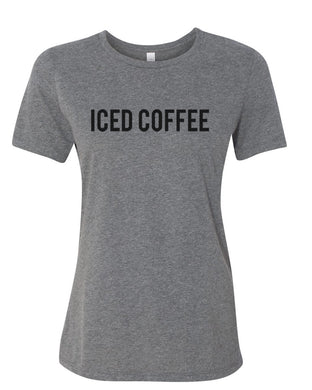Iced Coffee Fitted Women's T Shirt - Wake Slay Repeat