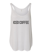 Load image into Gallery viewer, Iced Coffee Flowy Side Slit Tank Top - Wake Slay Repeat