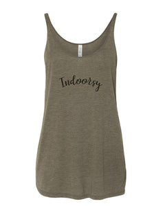 Indoorsy Slouchy Tank - Wake Slay Repeat