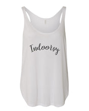 Load image into Gallery viewer, Indoorsy Flowy Side Slit Tank Top - Wake Slay Repeat