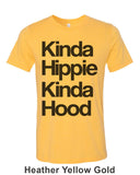 Kinda Hippie Kinda Hood Unisex Short Sleeve T Shirt - Wake Slay Repeat