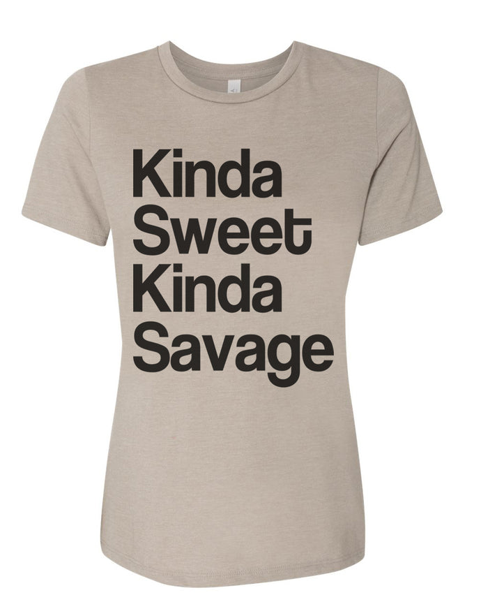 Kinda Sweet Kinda Savage Relaxed Women's T Shirt - Wake Slay Repeat