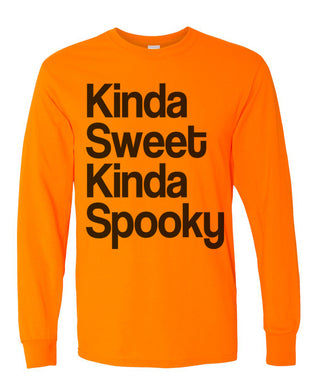 Kinda Sweet Kinda Spooky Unisex Long Sleeve T Shirt