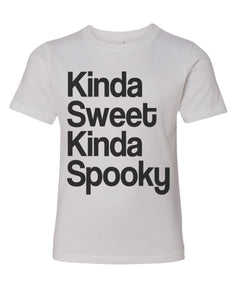 Kinda Sweet Kinda Spooky Youth Short Sleeve T Shirt - Wake Slay Repeat