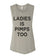 Ladies Is Pimps Too Workout Flowy Scoop Muscle Tank