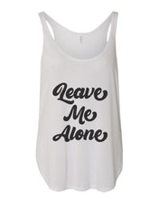 Load image into Gallery viewer, Leave Me Alone Flowy Side Slit Tank Top - Wake Slay Repeat