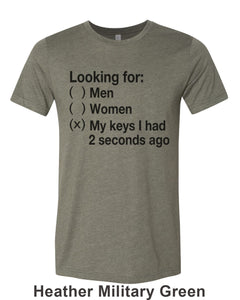 Looking For My Keys Unisex Short Sleeve T Shirt