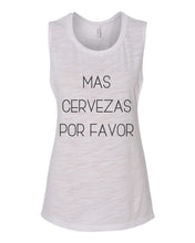 Load image into Gallery viewer, Mas Cervezas Por Favor Fitted Scoop Muscle Tank