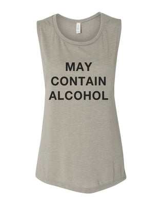 May Contain Alcohol Flowy Scoop Muscle Tank - Wake Slay Repeat
