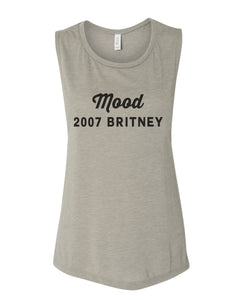 Mood 2007 Britney Flowy Scoop Muscle Tank - Wake Slay Repeat