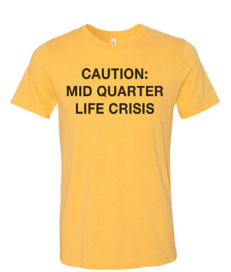 Mostly True Opinions Caution: Mid Quarter Life Crisis Unisex Short Sleeve T Shirt - Wake Slay Repeat