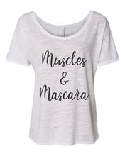 Load image into Gallery viewer, Muscles & Mascara Slouchy Tee - Wake Slay Repeat
