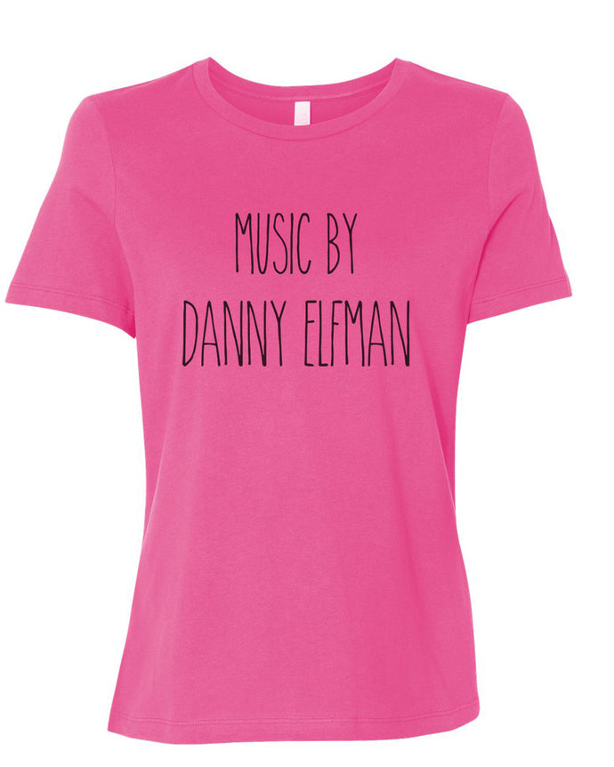 Music By Danny Elfman Fitted Women's T Shirt - Wake Slay Repeat
