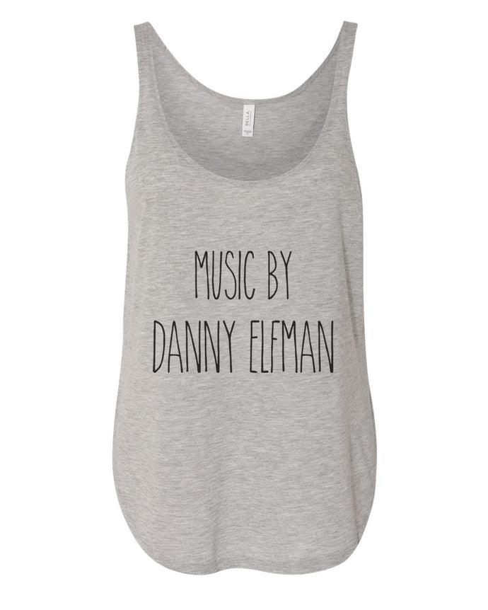 Music By Danny Elfman Flowy Side Slit Tank Top - Wake Slay Repeat