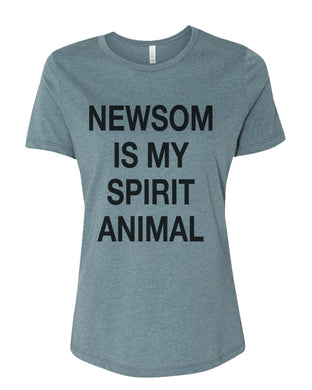 Newsom Is My Spirit Animal Fitted Women's T Shirt