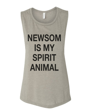 Newsom Is My Spirit Animal Fitted Muscle Tank