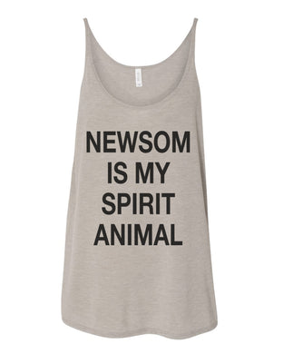 Newsom Is My Spirit Animal Slouchy Tank
