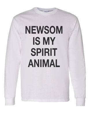 Newsom Is My Spirit Animal Unisex Long Sleeve T Shirt