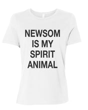 Load image into Gallery viewer, Newsom Is My Spirit Animal Fitted Women's T Shirt - Wake Slay Repeat