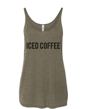 Load image into Gallery viewer, Iced Coffee Slouchy Tank - Wake Slay Repeat