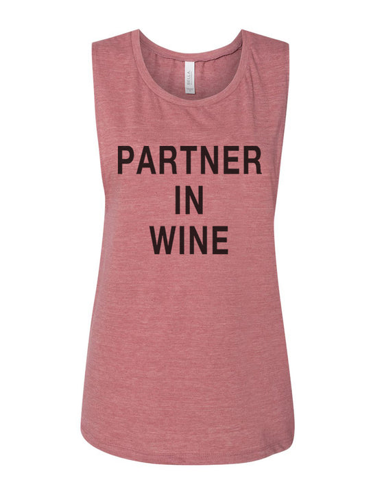 Partner In Wine Flowy Scoop Muscle Tank