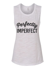 Load image into Gallery viewer, Perfectly Imperfect Fitted Scoop Muscle Tank - Wake Slay Repeat