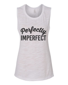 Perfectly Imperfect Fitted Scoop Muscle Tank - Wake Slay Repeat