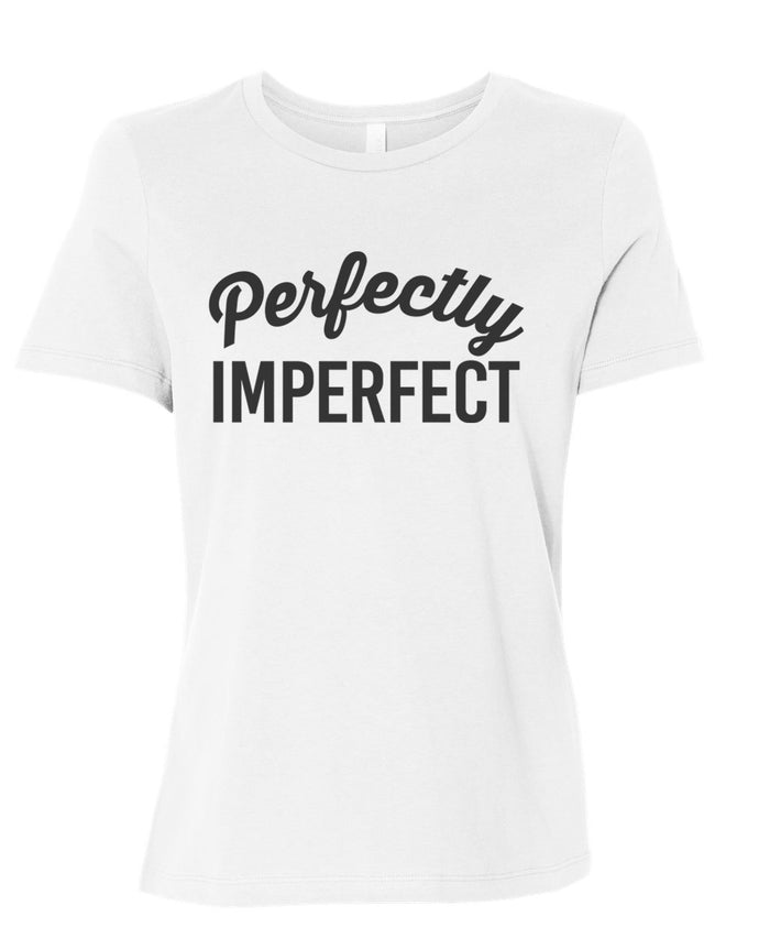 Perfectly Imperfect Fitted Women's T Shirt - Wake Slay Repeat