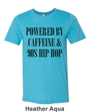 Load image into Gallery viewer, Powered By Caffeine & 90s Hip Hop Unisex Short Sleeve T Shirt - Wake Slay Repeat