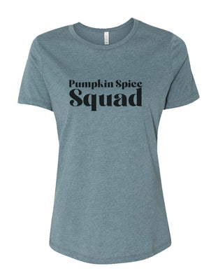 Pumpkin Spice Squad Fitted Women's T Shirt - Wake Slay Repeat
