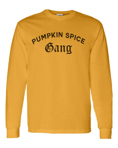 Pumpkin Spice Gang Unisex Long Sleeve T Shirt - Wake Slay Repeat