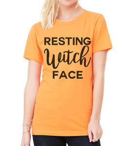Halloween Shirt Resting Witch Face Unisex T Shirt - Wake Slay Repeat
