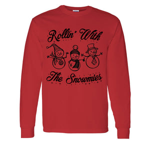 Rollin' With The Snowmies Christmas Unisex Long Sleeve T Shirt - Wake Slay Repeat