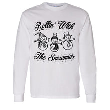 Load image into Gallery viewer, Rollin' With The Snowmies Christmas Unisex Long Sleeve T Shirt - Wake Slay Repeat