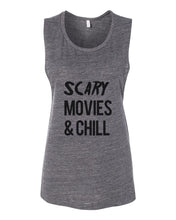 Load image into Gallery viewer, Scary Movies & Chill Fitted Muscle Tank - Wake Slay Repeat