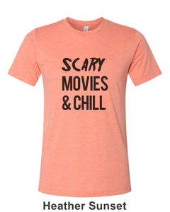 Scary Movies & Chill Unisex Short Sleeve T Shirt - Wake Slay Repeat