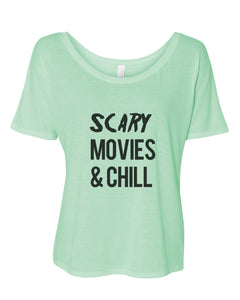 Scary Movies & Chill Slouchy Tee - Wake Slay Repeat