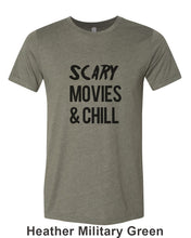 Load image into Gallery viewer, Scary Movies & Chill Unisex Short Sleeve T Shirt - Wake Slay Repeat