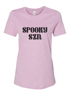 Spooky Szn Fitted Women's T Shirt - Wake Slay Repeat