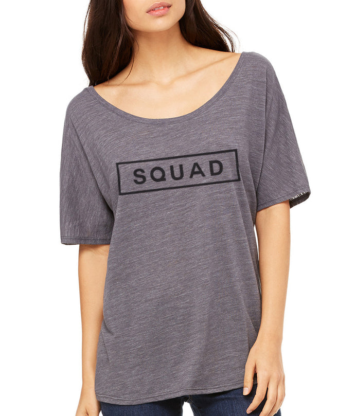 Squad Box Slouchy Tee - Wake Slay Repeat