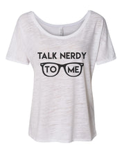 Load image into Gallery viewer, Talk Nerdy To Me Slouchy Tee - Wake Slay Repeat