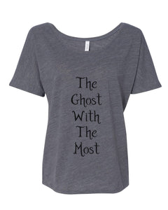 The Ghost With The Most Slouchy Tee - Wake Slay Repeat
