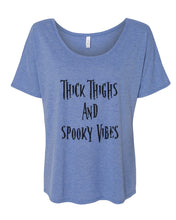 Load image into Gallery viewer, Thick Thighs And Spooky Vibes Slouchy Tee - Wake Slay Repeat