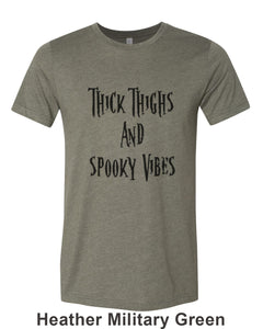 Thick Thighs And Spooky Vibes Unisex Short Sleeve T Shirt - Wake Slay Repeat