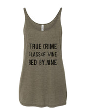 Load image into Gallery viewer, True Crime Glass Of Wine Bed By Nine Slouchy Tank - Wake Slay Repeat