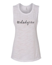 Load image into Gallery viewer, Unladylike Fitted Muscle Tank - Wake Slay Repeat