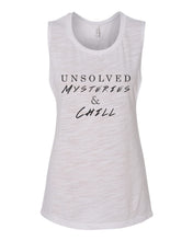Load image into Gallery viewer, Unsolved Mysteries & Chill Fitted Muscle Tank - Wake Slay Repeat