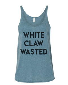 White Claw Wasted Slouchy Tank - Wake Slay Repeat